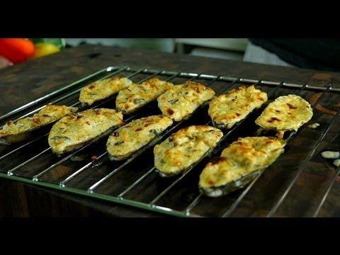 Мидии запеченные в духовке, лучший рецепт.