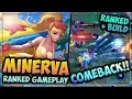 HEROES EVOLVED - MINERVA BUILD | SUMMER HEAT SKIN | RANKED GAMEPLAY + LUCKY COMEBACK!!
