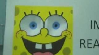 Spongebob Following Eyes Paper Illusion