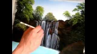 majestic falls speed painting
