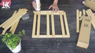 [LiK_Vietnam] Hướng dẫn tự thực hiện ghế lười ngồi bệt với thanh gỗ sáng tạo LiK