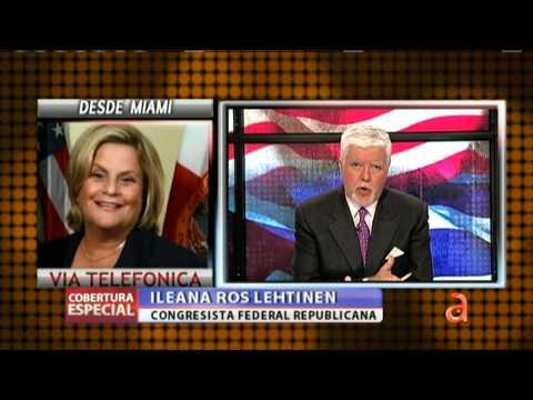 Pedro Sevcec habla con la congresista Ileana Ros Lehtinen - América TeVé