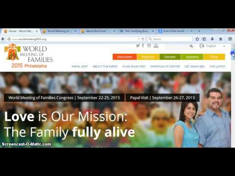 WORLD FAMILIES& POPE FRANCIS MEETING SEPTEMBER 2015