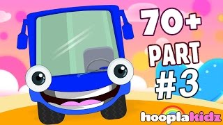 Wheels On The Bus | Blue Bus | Plus More Nursery Rhymes And Songs by HooplaKidz | 70 + Mins