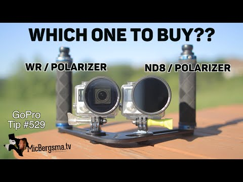 Which POLARIZER filter to buy? ND8  or Water Repelling - GoPro Tip #529