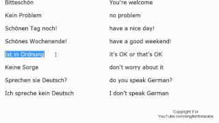 German for beginners - basic expressions part 2