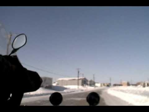 Motorbiking Ice Roads - Entering Tuktoyaktuk