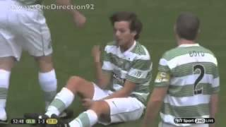 One Direction Video - Ouch! One Direction's Louis Tomlinson tackle by Gabriel Agbonlahor - SUB ITA