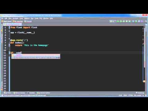 Flask Web Development with Python Tutorial - 1 - Basic App