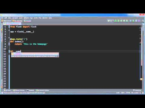 Flask Web Development with Python Tutorial - 1 - Basic App