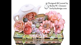Stamperia Alice Tea Party Eileen Hull Treasure Box with Notebook Trio Project Share for The Funkie J