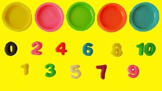 Learn Colors Learn to Count 1 to 10 Counting in English Play Doh Numbers Letters n