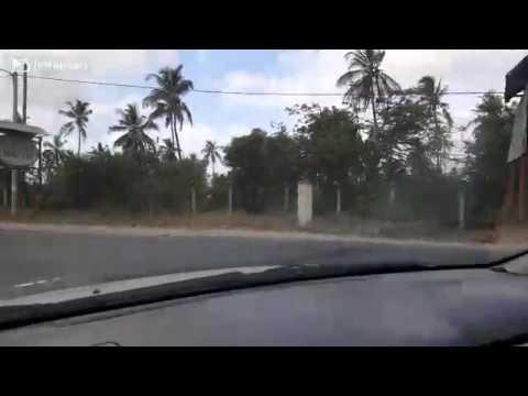drive to church in Mombasa Kenya