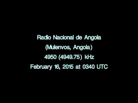 Radio Nacional de Angola (Mulenvos, Angola) - 4950 kHz