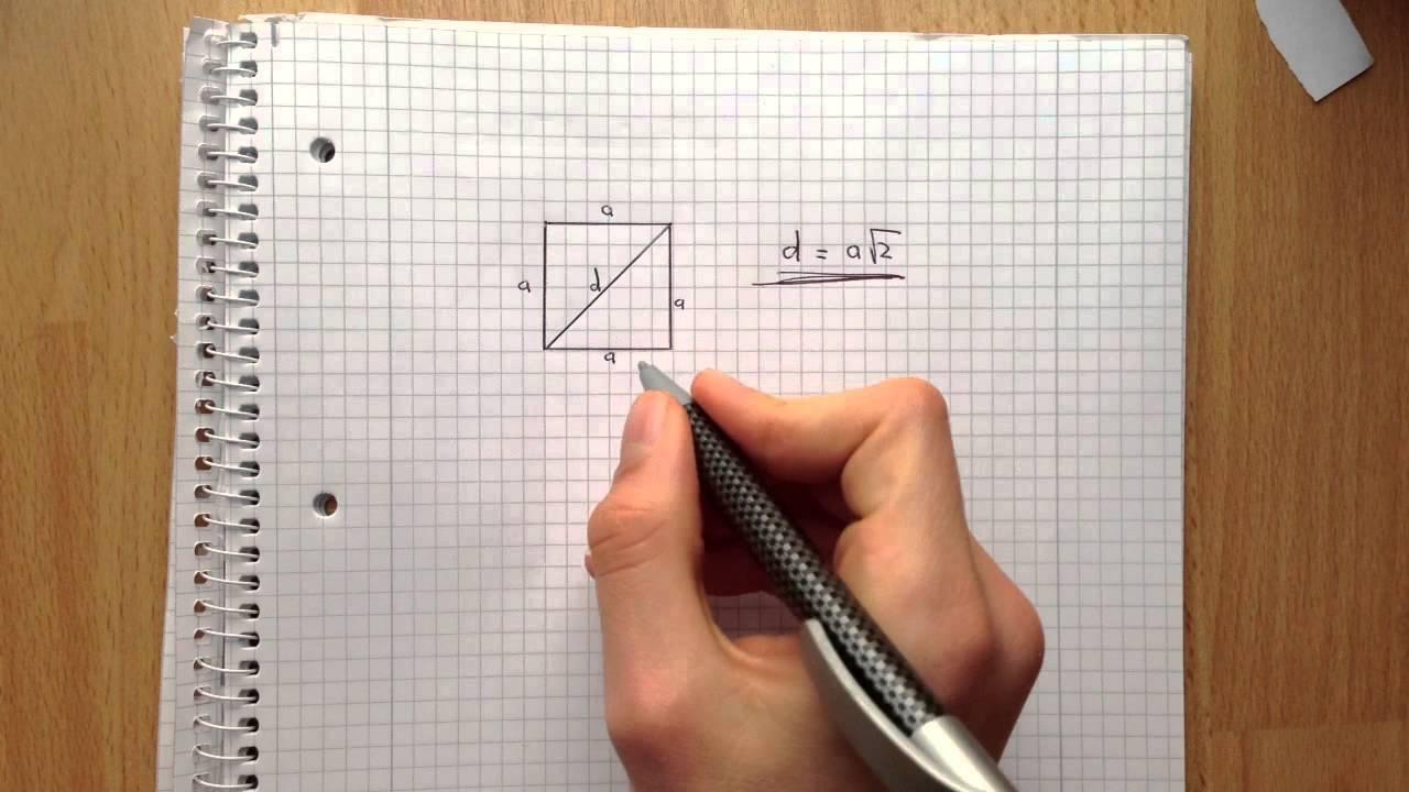 diagonale im quadrat ausrechnen hypothenuse ausrechen. Black Bedroom Furniture Sets. Home Design Ideas