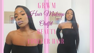 GRWM HAIR, MAKEUP AND OUTFIT 3IN1 BEAUTY FOREVER HAIR