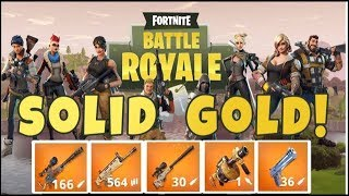 Fortnite battle royale |solid gold| intense game