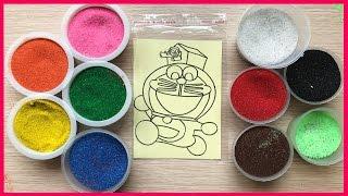 Đồ chơi trẻ em TÔ MÀU TRANH CÁT ĐÔRÊMON VA NÔBITA - Colored Sand Painting (Chim Xinh)