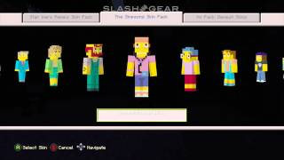 Minecraft Simpsons skin pack review