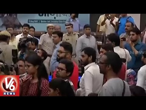 Man Attempts To Open Fire At JNU Student Leader Umar Khalid At An Event | Delhi | V6 News