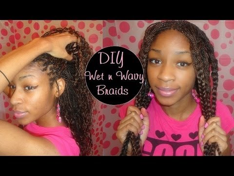 Hair Synthetic Braids To Wet Amp Wavy Youtube