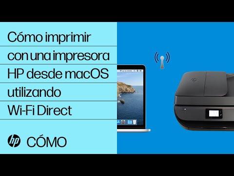 Cómo imprimir con una impresora HP desde macOS utilizando Wi-Fi Direct | HP Printers | HP
