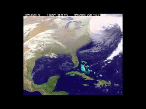 Historic Blizzard Seen From Space | Time-Lapse Video