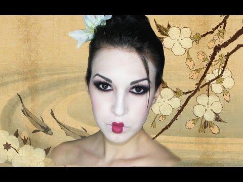 Maquillaje inspiración Geisha. Geisha inspired makeup.