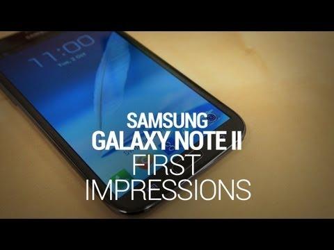 Samsung Galaxy Note II First Impressions