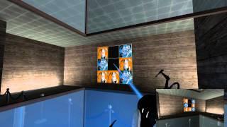 Portal 2 Coop map - Tic Tac Toe