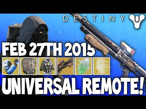 Destiny: Xur's Exotics - The Universal Remote! - Agent Of The Nine / 27th February 2015
