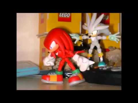 Triple fight Knuckles VS Silver VS Shadow: a sonic stop motion