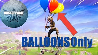 BALLOONS ONLY Challenge (Carrying the squad to VICTORY)