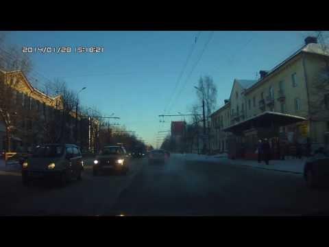 Взрыв колеса у троллейбуса