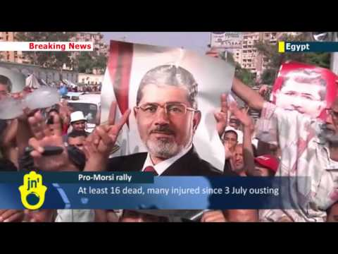 Muslim Brotherhood supporters rally in Cairo in support of deposed Islamist President Mohammed Morsi