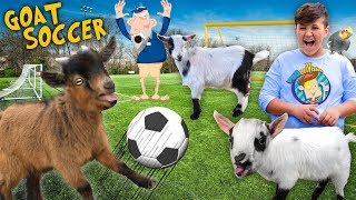 FUNnel Goats play Soccer! (FV FAMILY Farm Song Vlog)