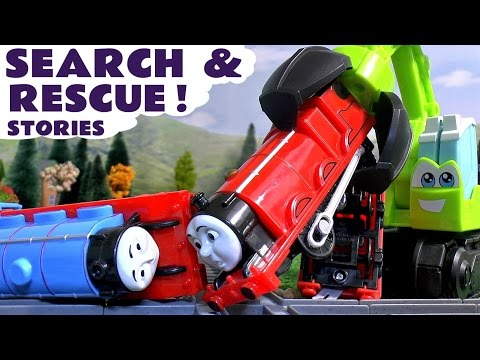 Thomas and Friends & Peppa Pig Play Doh Accident Search & Rescue Toys Stories with Paw Patrol