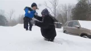 Funny babies and kids winter fails -babies in winter funny videos