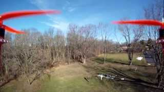 FPV Aerosky H100 RTF quadcopter with onboard GoPro