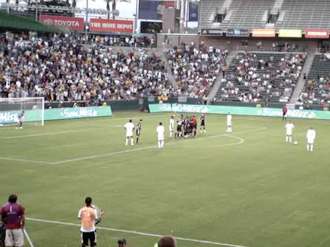 Beckham's Goal Against DC United from inside the stadium