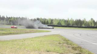 Mercedes-Benz 190D OM603 Spin on track