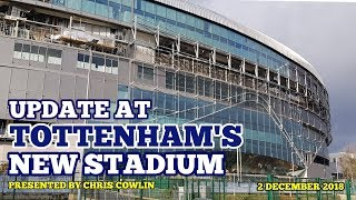 UPDATE AT TOTTENHAM'S NEW STADIUM: Panels, Paving and Club Announcements - 2 December 2018