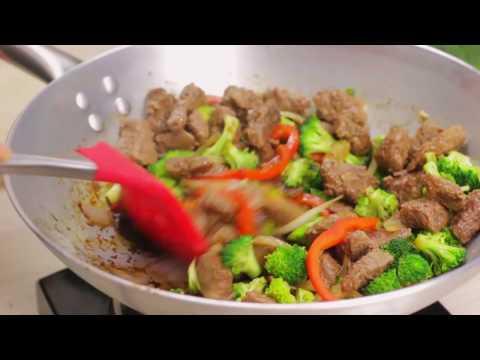 Salteado de Carne y Brócoli