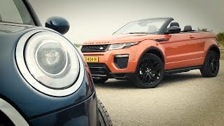ANWB Dubbeltest MINI Cabrio vs Range Rover Evoque Convertible 2016