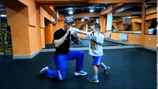 training in Boxing for the child.тренировка для ребенка. бокс.