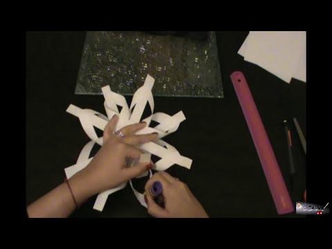 Como crear un copo de nieve con hojas de papel