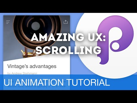 Scrolling & Drivers • UI/UX Animations with Principle & Sketch (Tutorial)