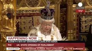 Queen Elizabeth II Opens Parliament  5/8/13