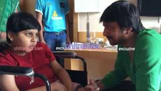Sudeep Helps His Little Friend Adithya