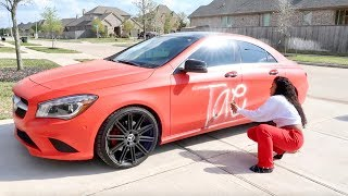 SPRAY PAINTING GIRLFRIEND CAR PRANK!!!